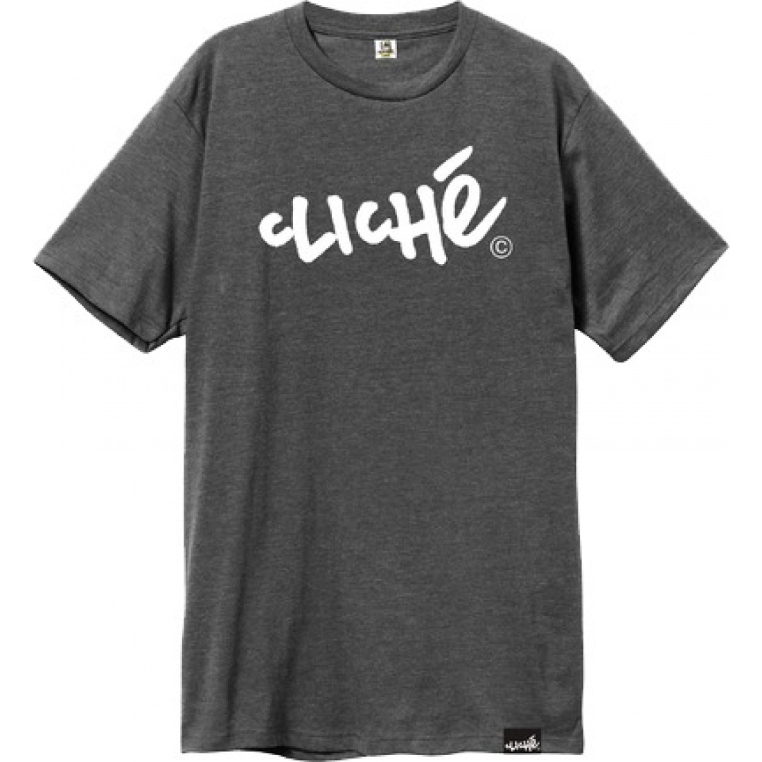 CLE-Handwritten Classic Charcoal Heather White Tee