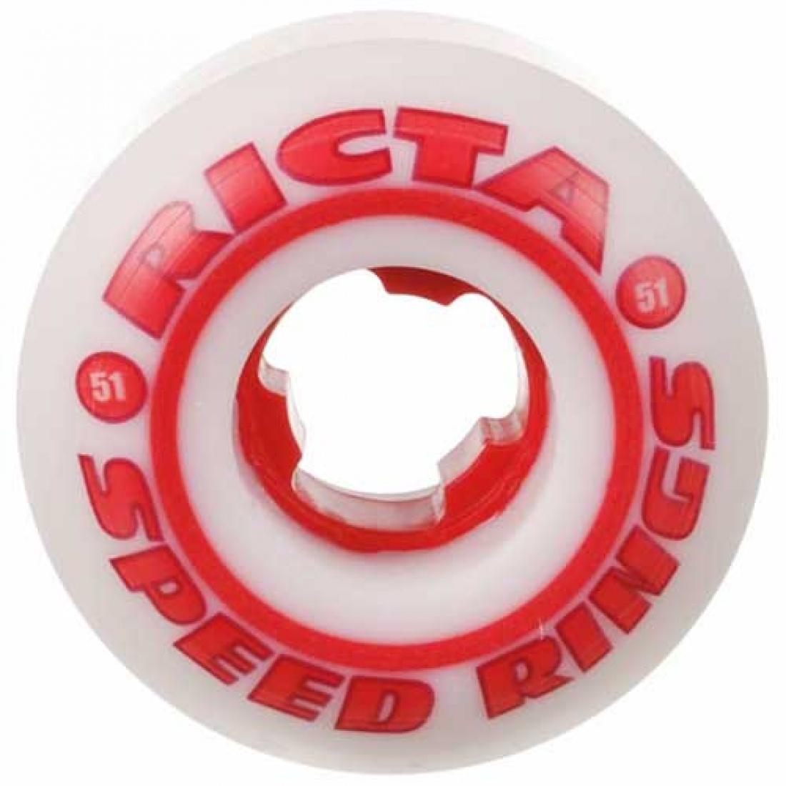 RCA-Speedrings 81b White/Red 51mm (Set of 4)