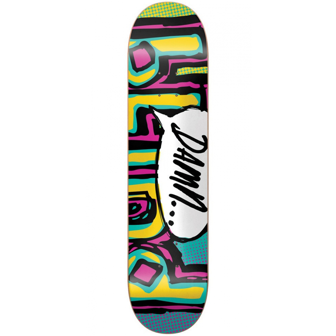 BLD-OG Damn Bubble SS Turquoise/Pink/Yellow 8.0 Deck