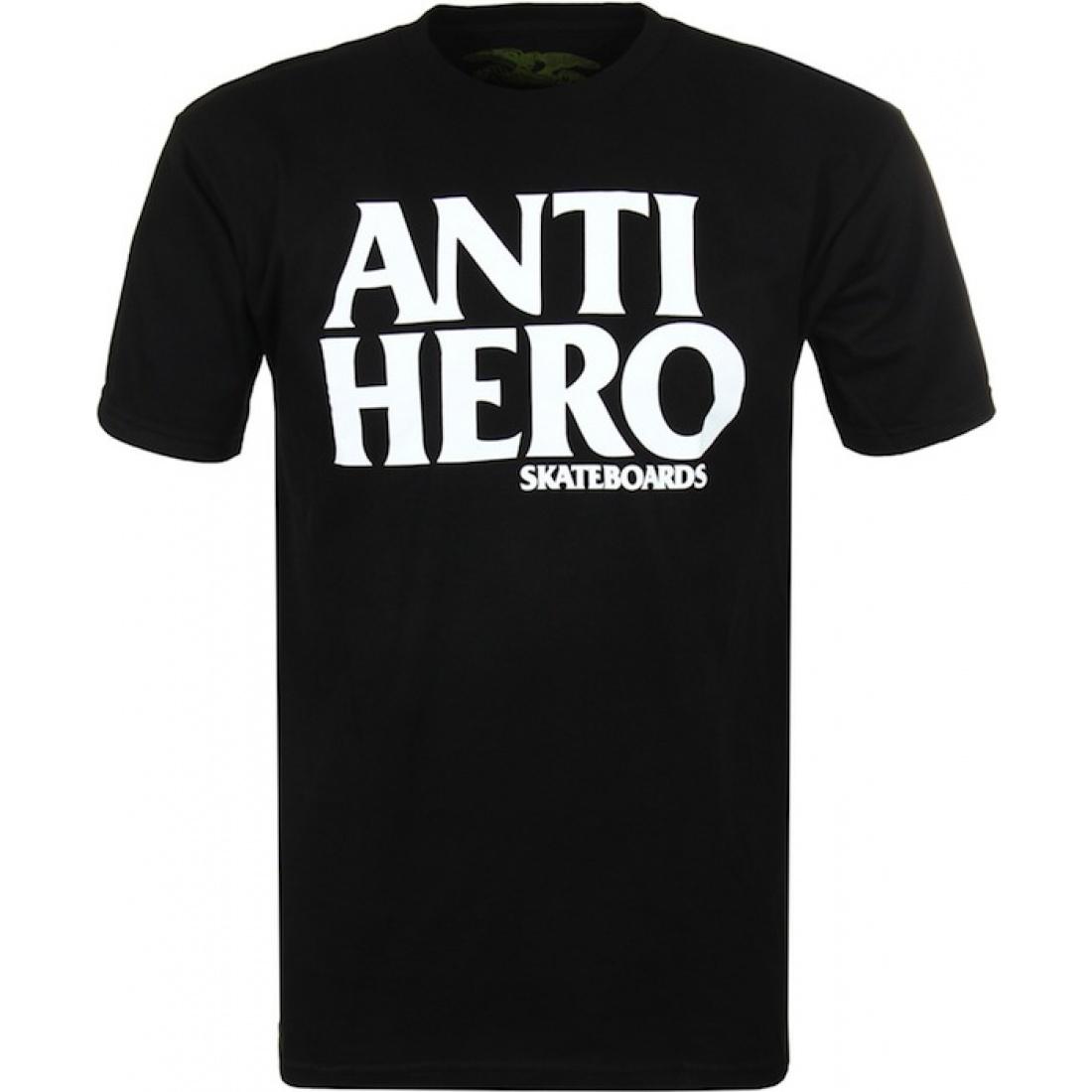 AH-Black Hero Black White Tee