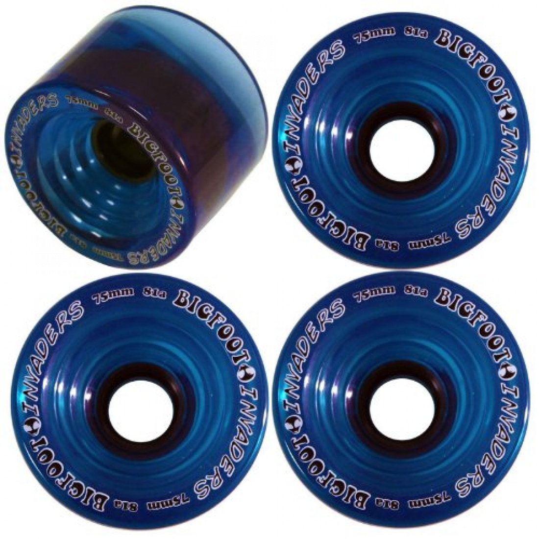 Bigfoot Wheel - 75mm 81a Invaders Clear Blue (set of 4)