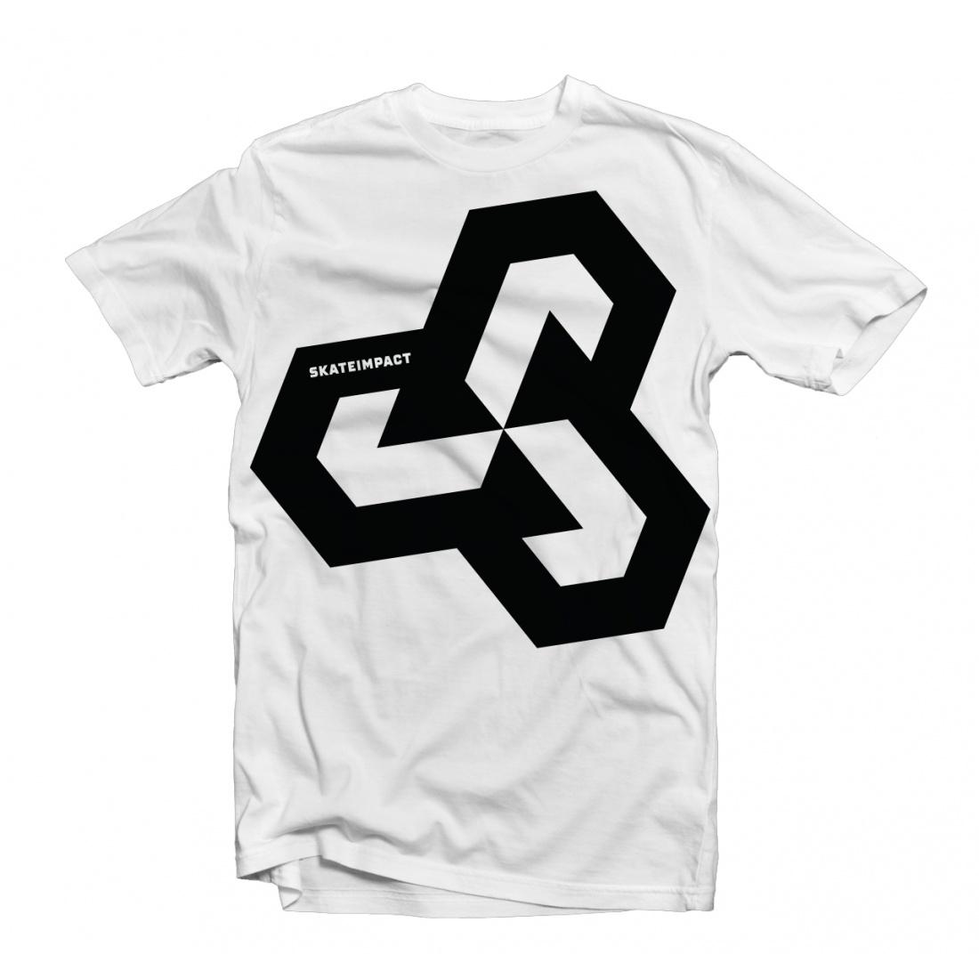 Skateimpact Giant Icon Black on White Tshirt