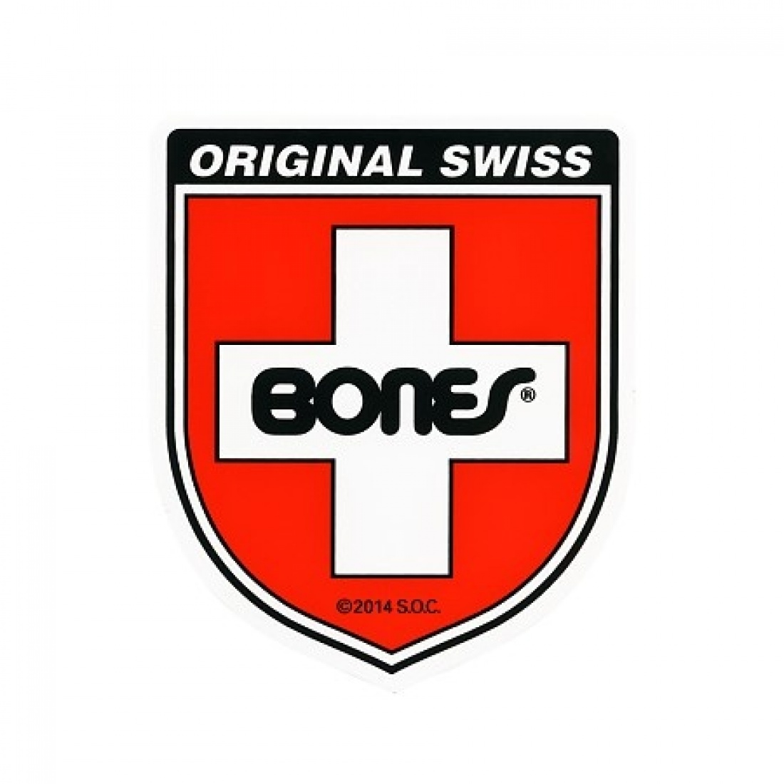 Bones Swiss Bearing Shield Sticker Small (1 Sticker)