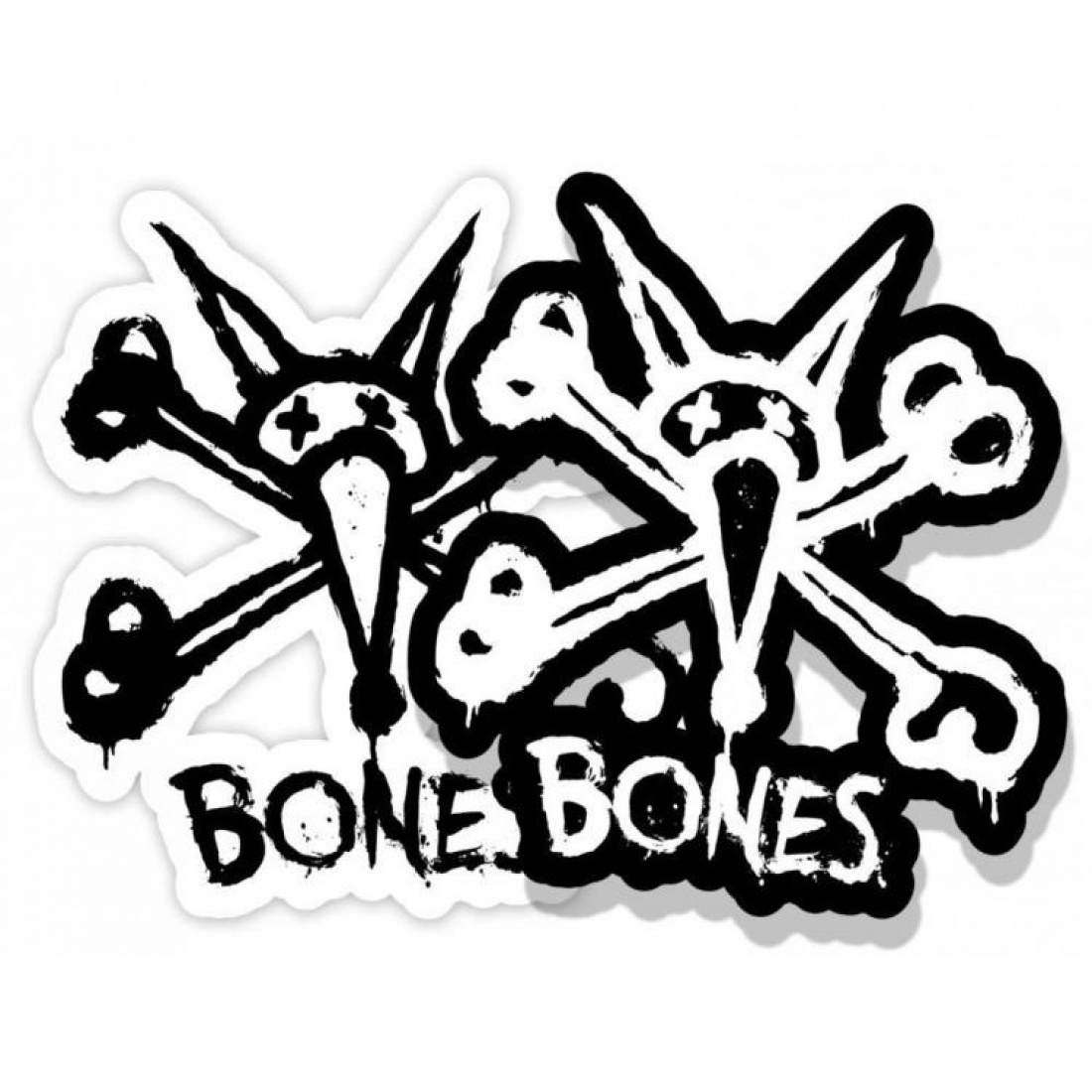 "BONES WHEELS Vato Stacked Sticker 2"" (1 Sticker)"