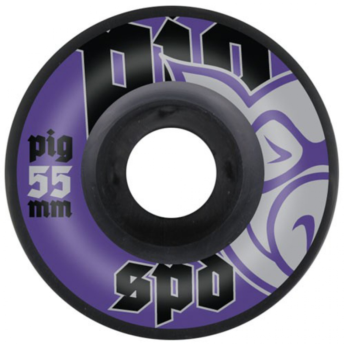 PIG-SPD BLK/NAT Purple 55MM Wheels (Set of 4)