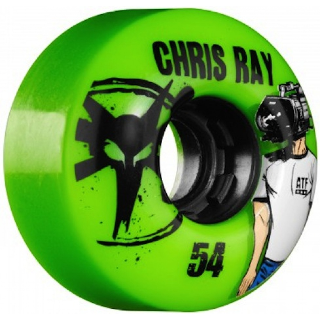 Bones Chris Ray Green All Terrain Formula 54MM Wheels (Set of 4)