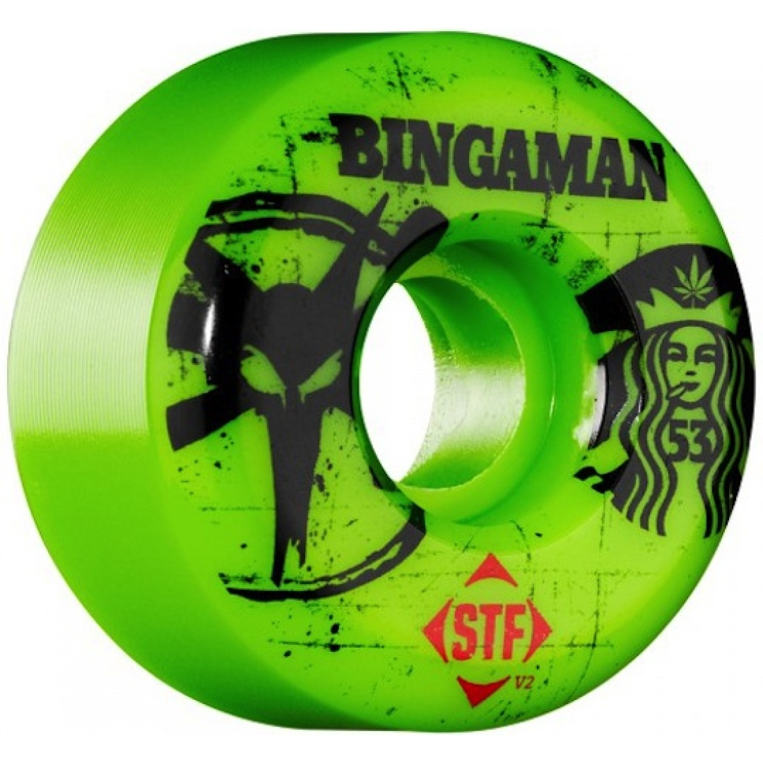 Bones Bingaman Tea Green Streettech 53MM Wheels (Set of 4)