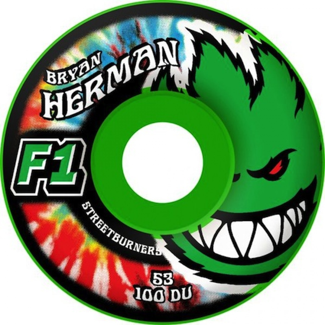 SF-F1SB Herman Kush Green 53MM Wheels  (Set of 4)