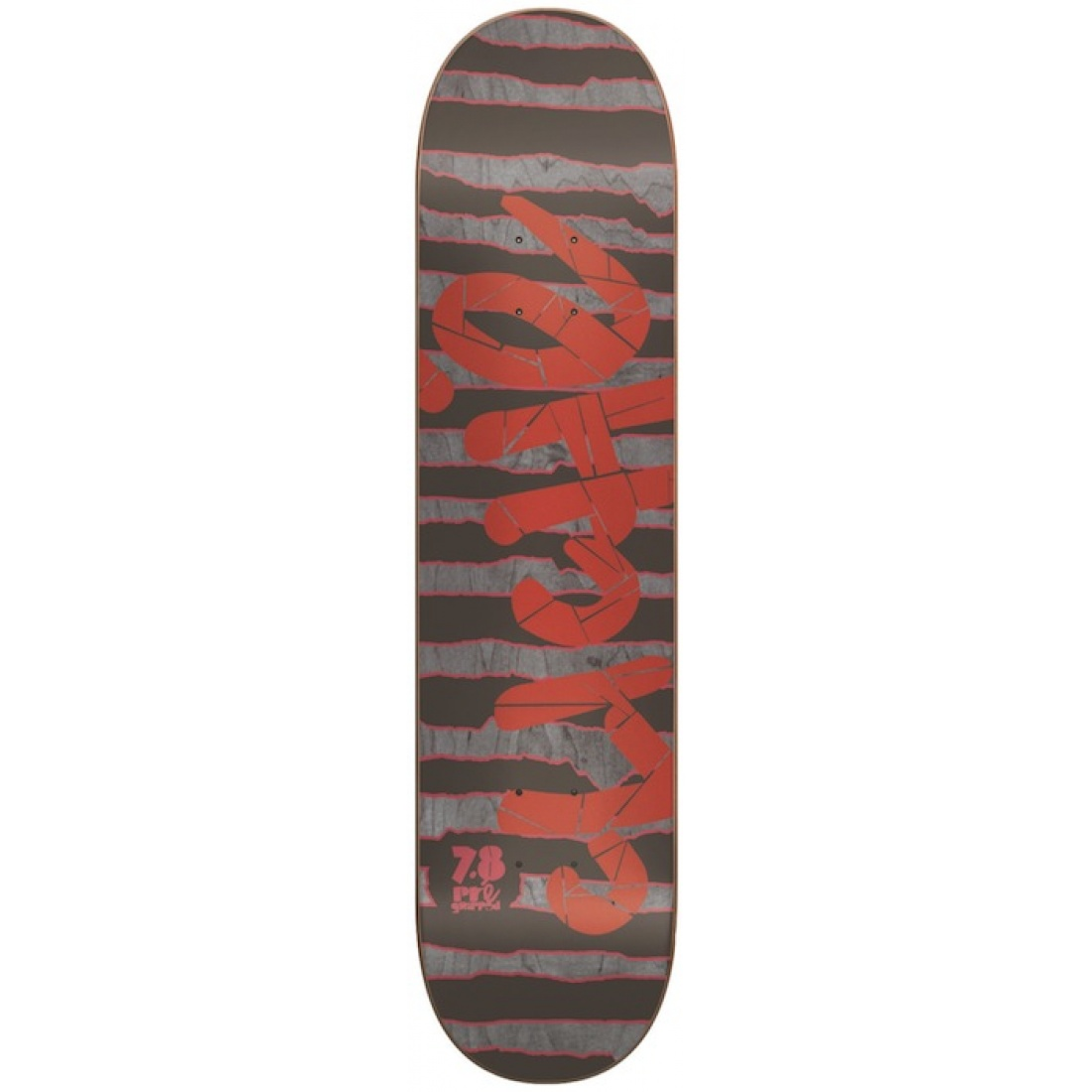 CLE-Stripes Pre-Gripped Red/Grey 7.8 Deck