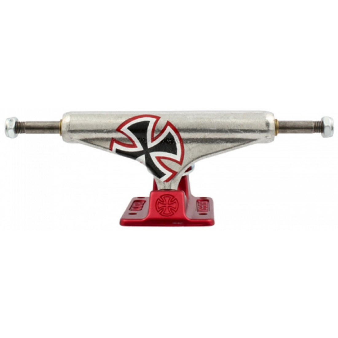 IND-Std Stage 10.5 Forged Hollow Solo Cross Silver/Red 129 Trucks (set of 2)