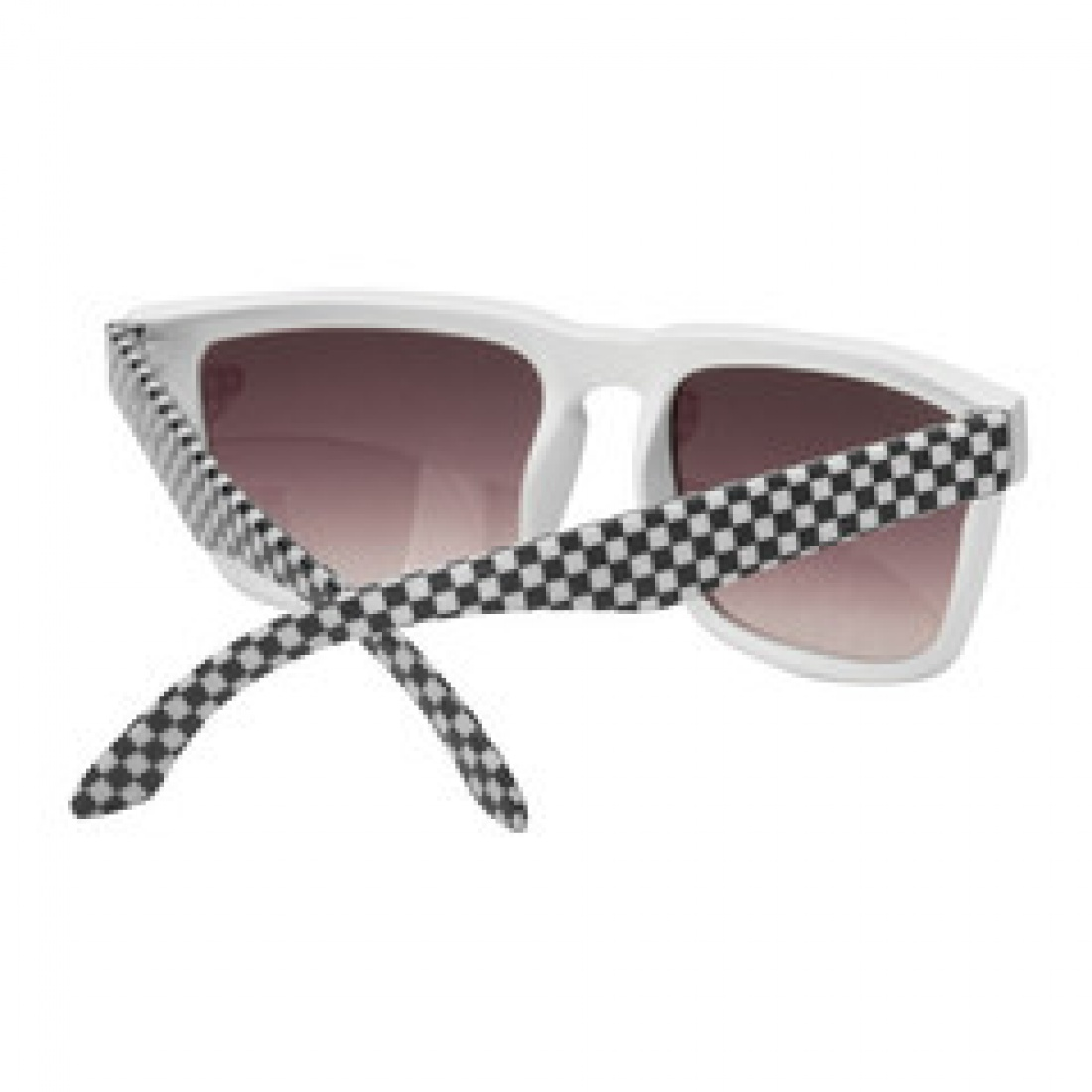 IND-Pattern Square Sunglasses Wht/Blk Checker OS Unisex