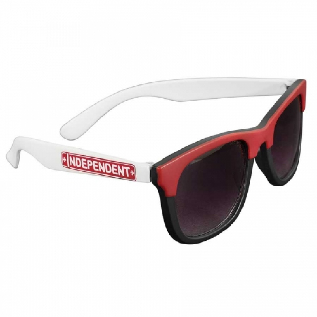 IND-Lost Boys Square Sunglasses Blk/Red/Wht OS Unisex