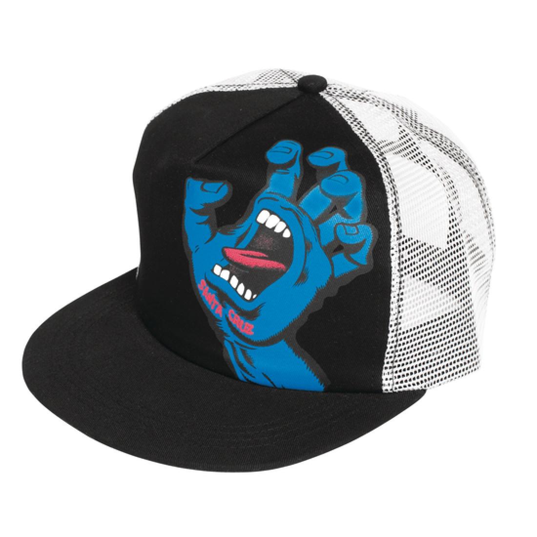 SCZ-Screaming Hand Trucker Mesh Hat Blk/Wht OS Mens