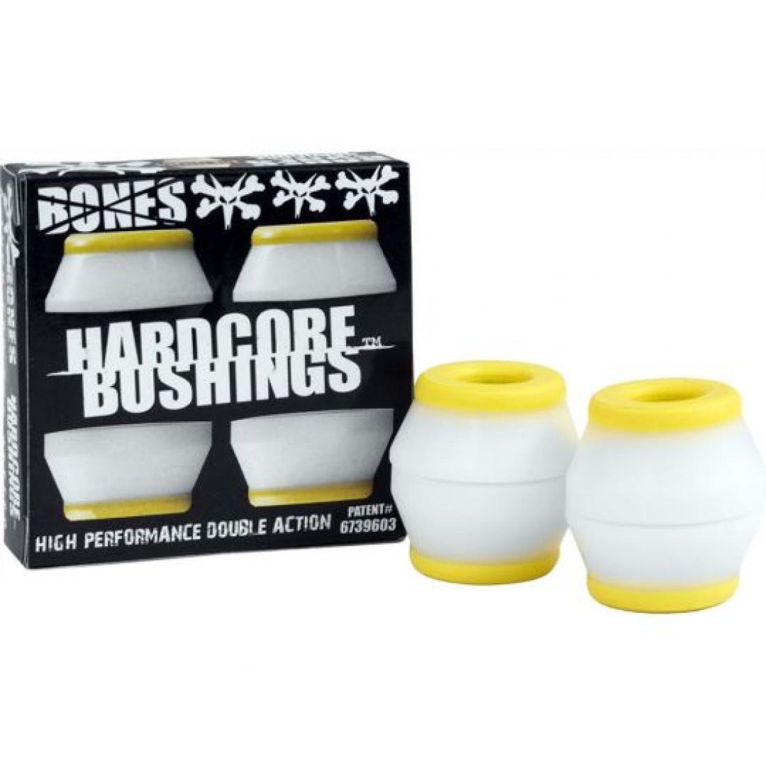 Bones Hardcore Bushings Medium Yellow/White