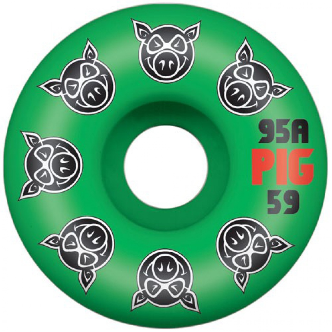 PIG-Multi PIG Green 59MM Wheels (Set of 4)