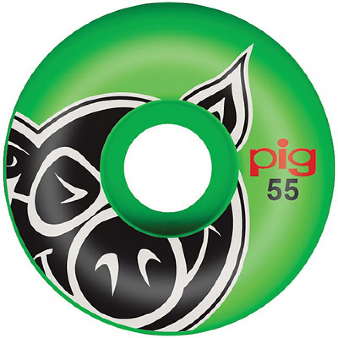 PIG-Primary Green PP 55MM Wheels (Set of 4)