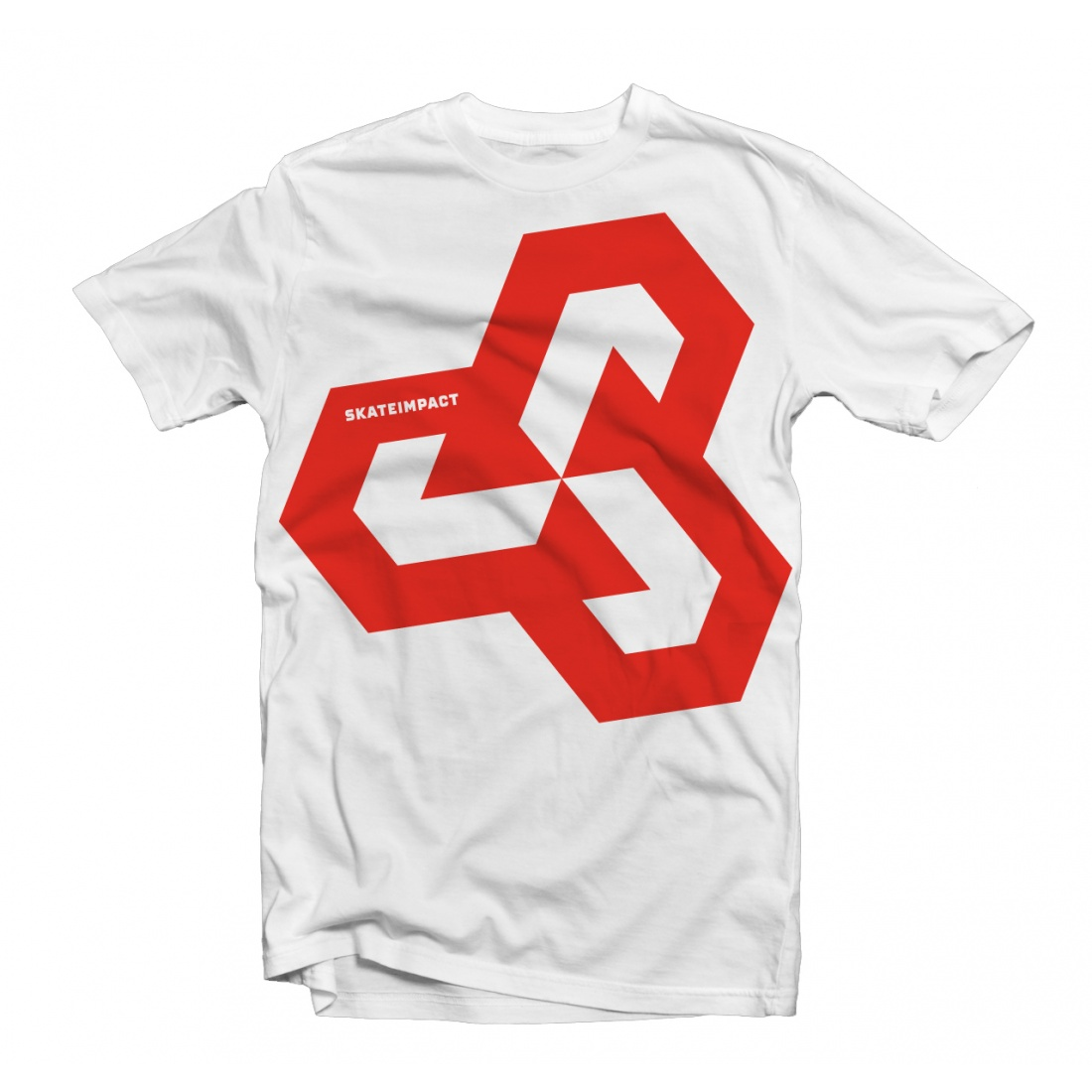 Skateimpact Giant Icon Red on White Tshirt
