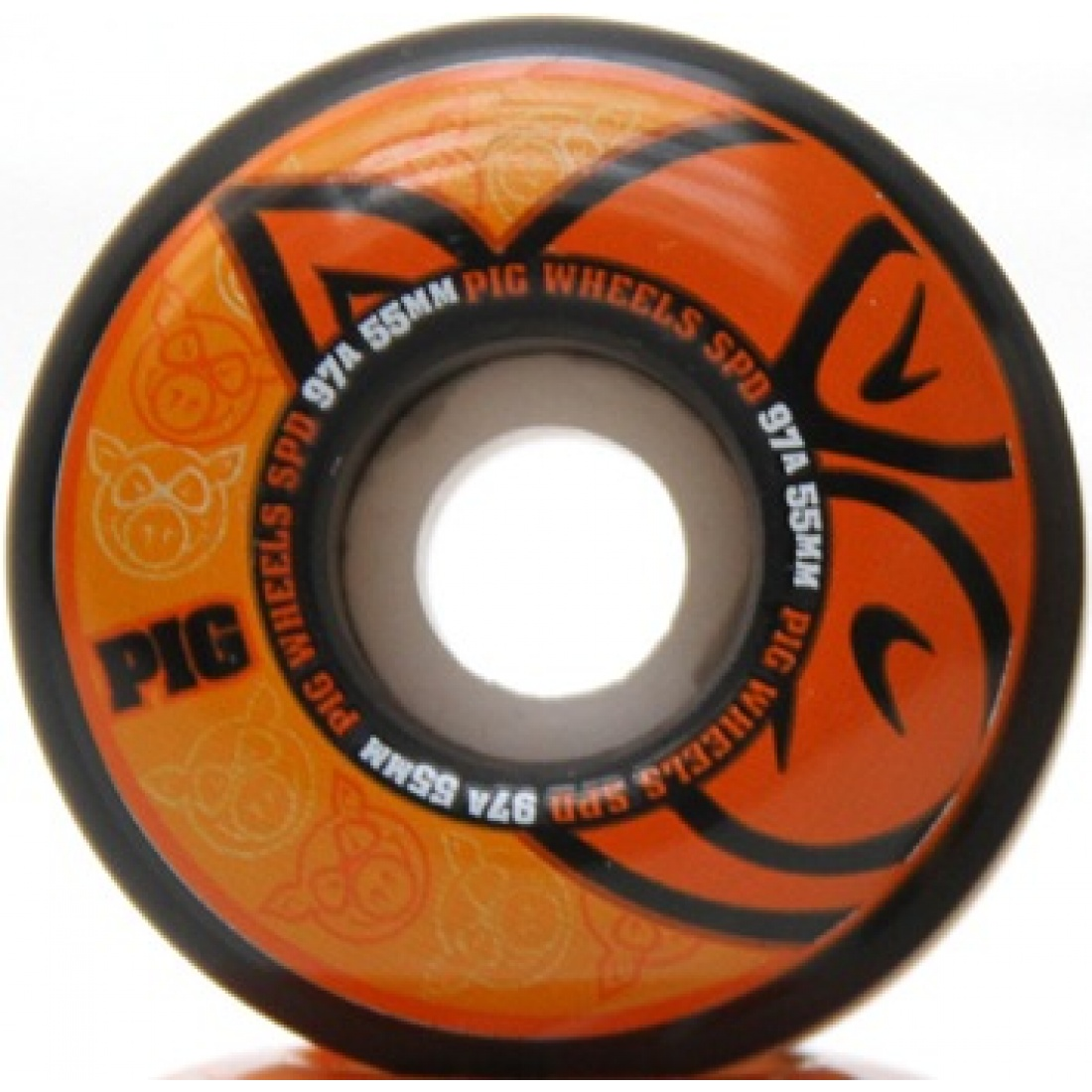 PIG-SPD BLK/NAT V.2 Orange 55MM Wheels (Set of 4)