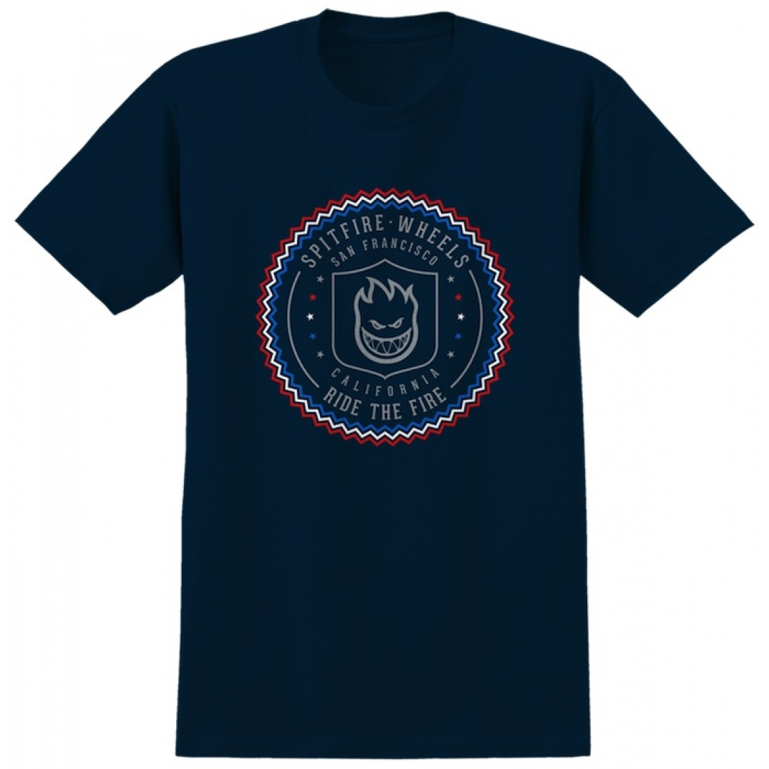 SF-Sealed Black Red White Blue Tee
