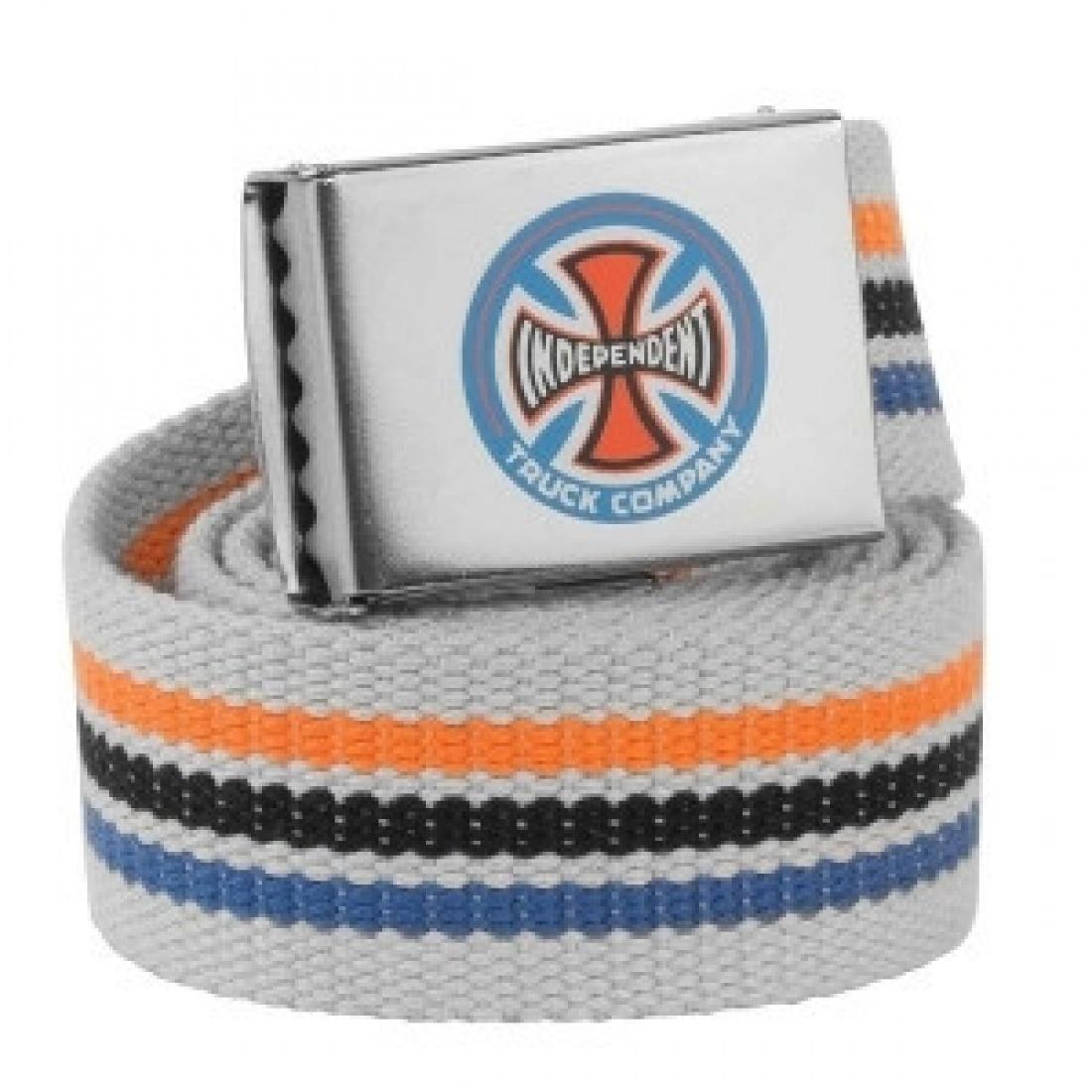 IND-Stripes T/C Web Belt Grey OS Unisex
