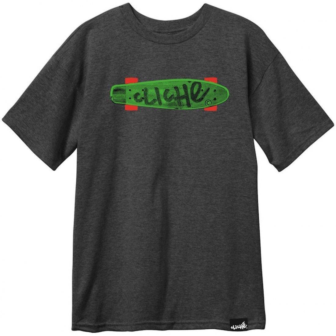 CLE-Trocadero Charcoal Heather Tee