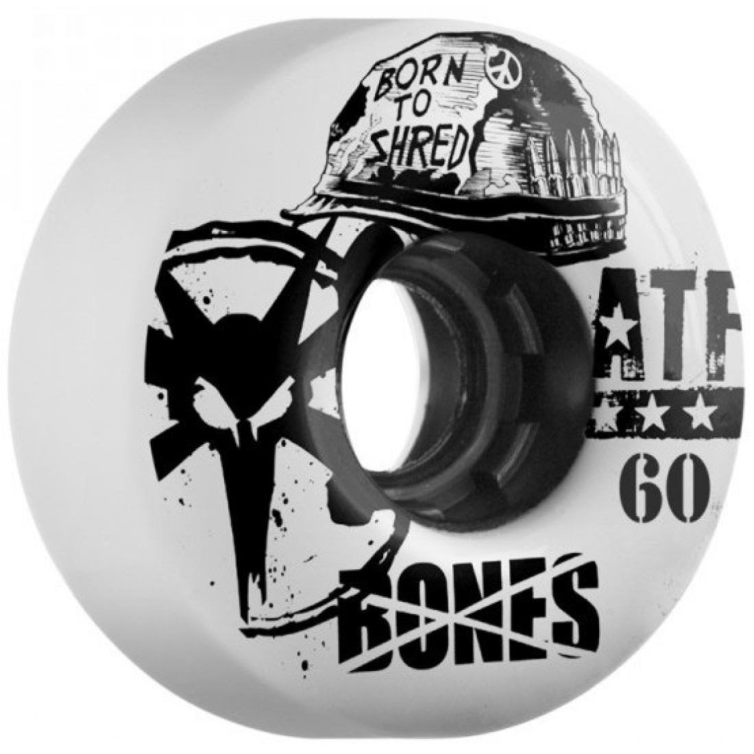 Bones Helmet White All Terrain Formula 60MM Wheels (Set of 4)