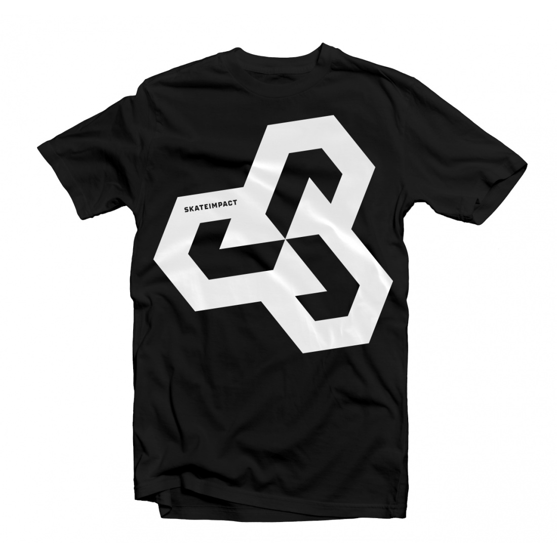 Skateimpact Giant Icon White on Black Tshirt