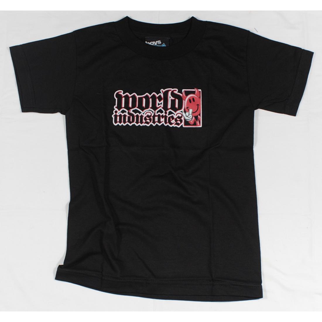 WLD-Devil Classic Boys Black t-shirt Youth Small