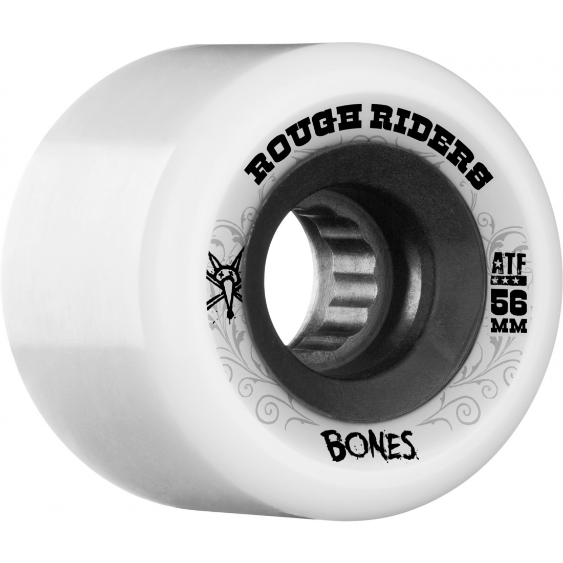 Bones Rough Rider 56mm White Wheel