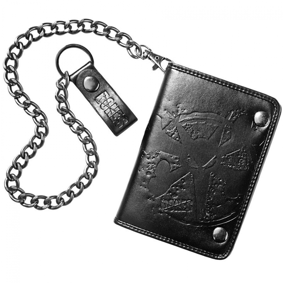 Bones Rat Embossed Wallet - Black