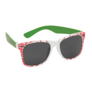 SCZ-Slasher Sunglasses White/Green OS Unisex