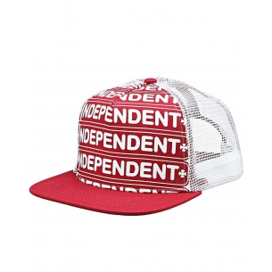 IND-Axle Bar Adjustable Mesh Hat Red/White OS Mens