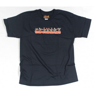 WLD-Flameboy Cart Wheel t-shirt Navy Youth Medium