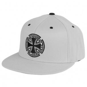 IND-Metallic Cross Flexfit Fitted Hat Grey L/XL Mens