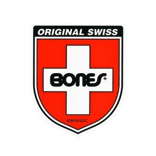 Bones Swiss Bearing Shield Sticker Small (1 Sticker)
