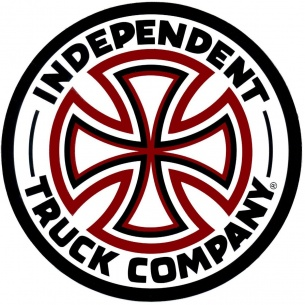 IND-Red/White Cross Decal 3 in Vinyl Red