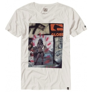 Globe Schick Logo Dirty White Tee