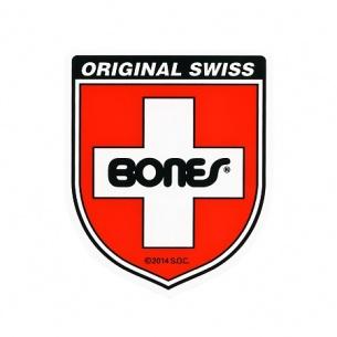 Bones Swiss Bearing Shield Sticker Medium (1 Sticker)