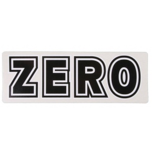 ZER-Bold Sticker White/Black