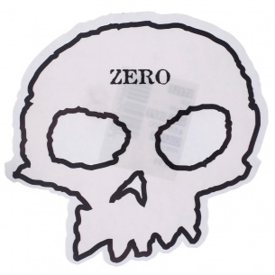 ZER-Skull Sticker White
