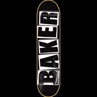 BAKER BRAND LOGO DECK-8.0 BLK/WHT