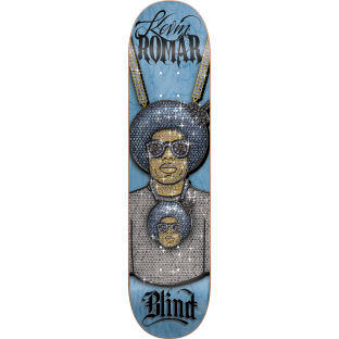 BLIND ROMAR BOSS CHAIN DECK-8.0 BLUE/SIL r7