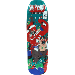 SHIPYARD LOBSTER MAN DECK-9x32.5 TEAL