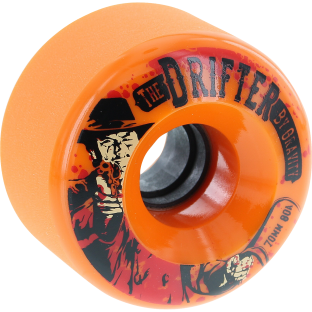 GLOBE DRIFTER 70mm 78a ORANGE (Set of 4)