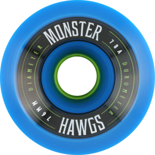 HAWGS MONSTER 78a 76mm BLUE (Set of 4)