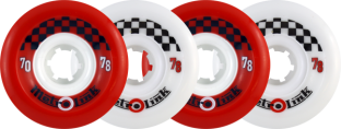 METRO LINK 70mm 78a MIXED RED/WHITE (Set of 4)