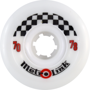METRO LINK 70mm 78a WHITE (Set of 4)