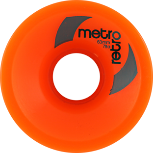METRO RETRO FREERIDE 63mm 78a ORANGE (Set of 4)