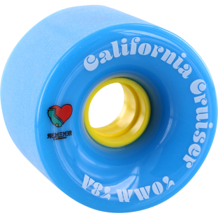 REMEMBER CALIFORNIA CRUISER 70mm 78a BLU/YEL (Set of 4)