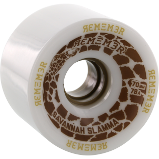 REMEMBER SAVANNAH SLAMMA 70mm 78a WHITE (Set of 4)